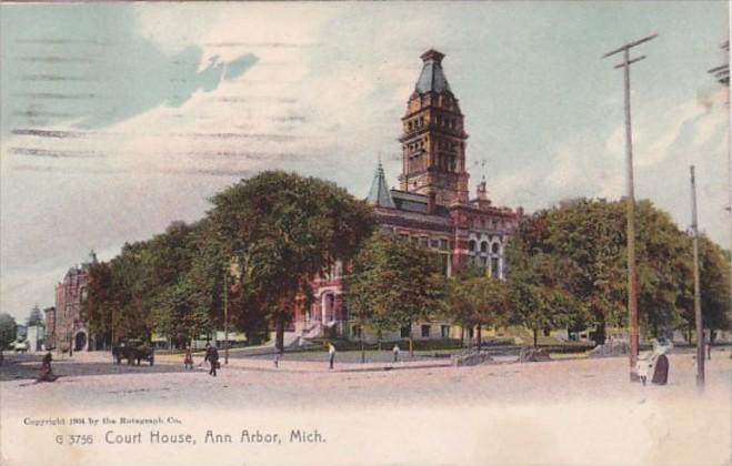 Michigan Ann Arbor Court House 1908 Rotograph