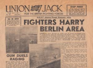 Union Jack British Forces German Army WW2 ORIGINAL War Newspaper
