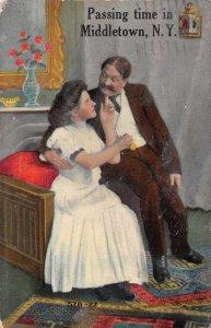 Middletown New York Romance Passing Time Vintage Postcard JE359553