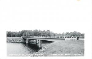 Cornell WI~Brunet Island State Park~Bridge~1950s LL Cook Real Photo~RPPC