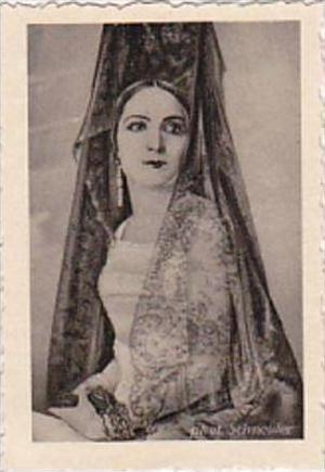 GARBATI CIGARETTE CARD FAMOUS DANCERS NO 244 AMARANTINA