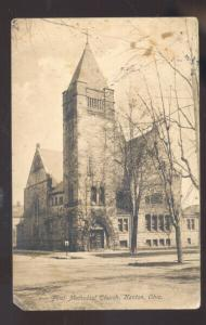 KENTON OHIO FIRST METHODIST CHURCH ANTIQUE VINTAGE POSTCARD BRIDGEPORT KANS.