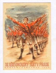 Poster Art: XI. Vsesokolsky Sletv Praze, Cerven-Cervence 1948 Czech Republic #2