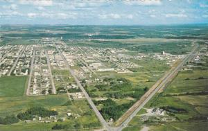 Aerial View of Fort St. John, British Columbia, Canada, 40-60s