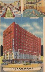 WASHINGTON DC, 1930-40s; The Ambassador, Hotel Exterior, Main Dining Room and...