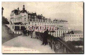 Old Postcard Biarritz Casino and Bellevue Square