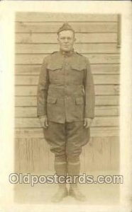 WWI Real Photo Military Soldier in Uniform Unused