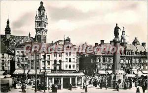 Postcard Old Lille General de Gaulle Square