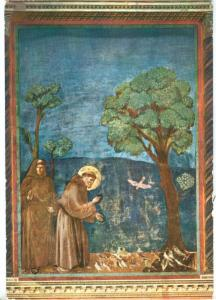 ASSISI, Basilica di S. Francesco, St Francis preaching to the birds, used