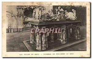 Old Postcard Ain Church Of Brou Tombeau De Philibert Le Beau