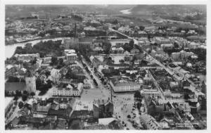 Trondheim Norway~Bird's Eye View Overlooking City~Vintage RPPC