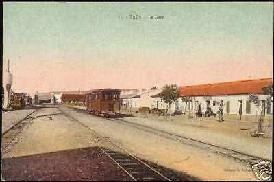 morocco, TAZA, La Gare, Railway Station (1920s) Train