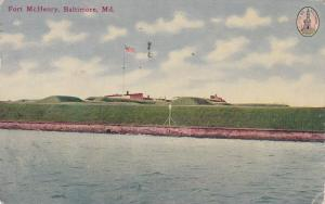 BALTIMORE, Maryland, PU-1913 ; FORT MCHENRY, U.S. Flag