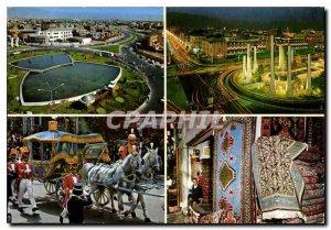 Postcard Modern Teheran 4 views