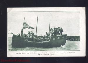 ST. AUGUSTINE FLORIDA PONCE DE LEON SPANISH CARASEL SHIP