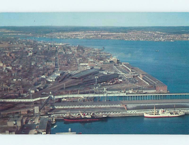 Pre-1980 AERIAL VIEW OF TOWN Halifax Nova Scotia NS F9255