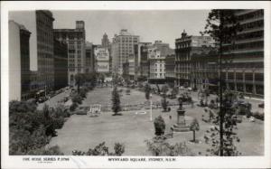 Sydney NSW Wynard Square Real Photo Postcard rpx