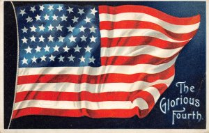 F42/ Patriotic Postcard July 4th Independence Day c1911 Silverton Oregon Flag 1