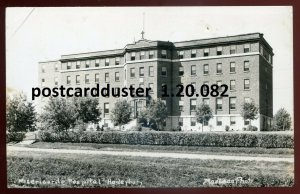 082 - HAILEYBURY Ontario 1940s Hospital. Real Photo Postcard by MacLean