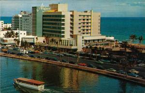 Airview of beautiful Lake Pancoast,Miami Beach,Florida,PU-1954