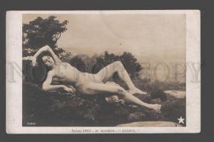 093615 NUDE Female BELLE Nymph by MANGIN vintage SALON 1910