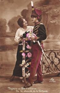 Toujours on fete l'alliance... Uniform Sword Lovers Couple Fence Flowers, Mug