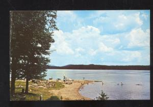 PISECO LAKE NEW YORK POINT COMFORT CAMPSITE SWIMMING VINTAGE POSTCARD NY