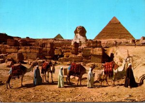 Egypt Giza The Spinx and The Pyramids Of Cheops and Chephren