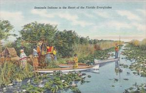 Florida Seminole Indians In The Heart Of The Everglades Curteich