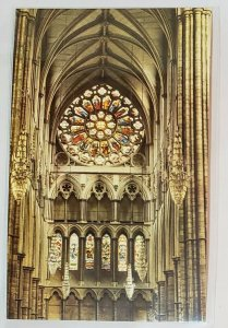 Vintage Postcard:Westminster Abbey-The North Rose Window - UK