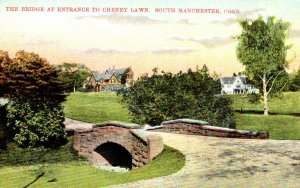 Connecticut South Manchester The Bridge At Entrance To Cheney Lawn