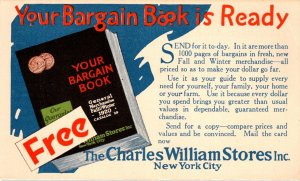 Advertising Your Bargain Book Charles William Stores New York City