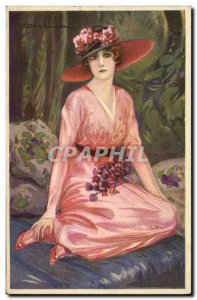 Old Postcard Fantasy Illustrator Woman Corbella