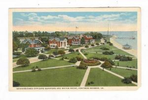 Commissioned Officers Quarters and Water Front, Fortress Monroe, Virginia, 00...
