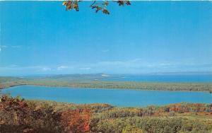 Michigan~Little Traverse Lake View @ Sugar Loaf Mountain~Leelanau County~'50s Pc