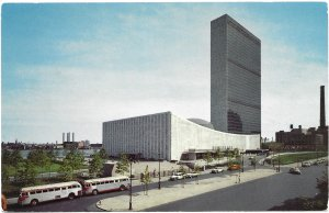 US United Nations Buildings, New York City.  Used, no postage.