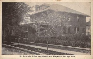 Dr. Conrad's Office & Residence, Magnetic Springs, Ohio 1928 Vintage Postcard