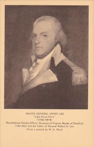 Major General Henry Lee