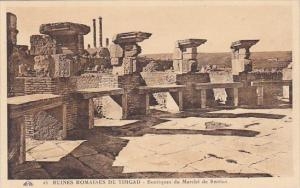 Algeria Ruines Romaines de Timgad Boutiques du Marche de Sertius