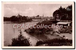 Postcard Ancient Pornic entrance of the Port and bathing cove rabbits