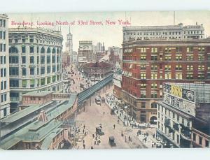 Divided-Back STREET SCENE New York City NY W2271
