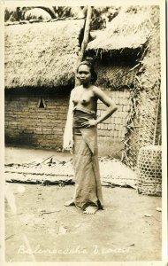 indonesia, BALI, Beautiful Native Nude Balinese Woman (1920s) RPPC Postcard