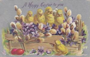 Tucks Happy Easter With Young Chicks 1909