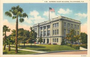 Tallahassee Florida~Supreme Court Building~1930's Linen Postcard