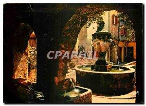 Postcard Moderne Saint Paul Alpes Maritimes Old Fountain