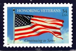 Stamps On Postcards Honoring Veterans 2005