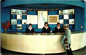 Vtg 1950s Information Center Delaware Memorial Bridge Wilmington DE Postcard