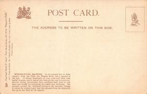 Whirlpool Rapids, Niagara Falls, Ontario, Canada, Early Postcard, Unused