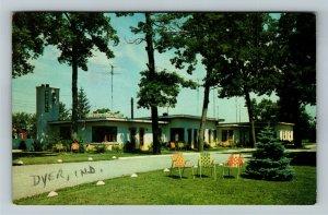 Dyer IN- Indiana, Rinehart Motel, Advertising, Chrome c1955Postcard