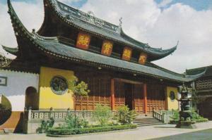 Shanghai , CHINA , 60-90s ; Grand Altar for Sakyamuni in the Jade Buddha Temple